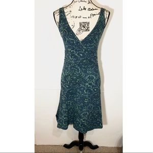 Patagonia Fitted Low Back Damask Dress
